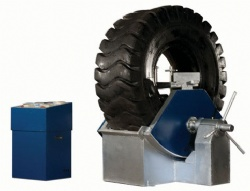 Heavy duty partial tire vulcanizing machine for bus and truck
